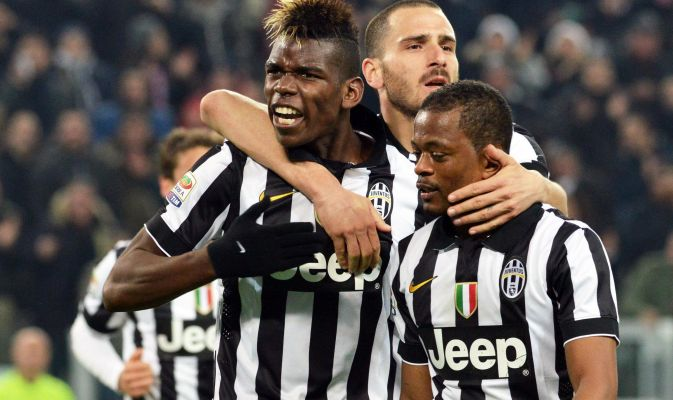 Pogba after scoring the winner and Scudetto for Juventus © Ansa