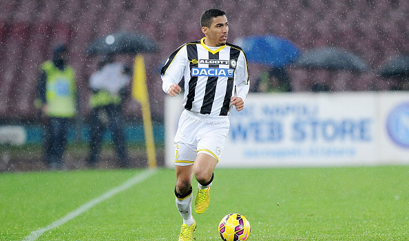NAPLES, ITALY - JANUARY 22 : Marques Loureiro Allan of Udinese in action during the TIM CUP match between SSC Napoli and Udinese Calcio at the San Paolo Stadium on January 22, 2015 in Naples, Italy. (Photo by Francesco Pecoraro/Getty Images)